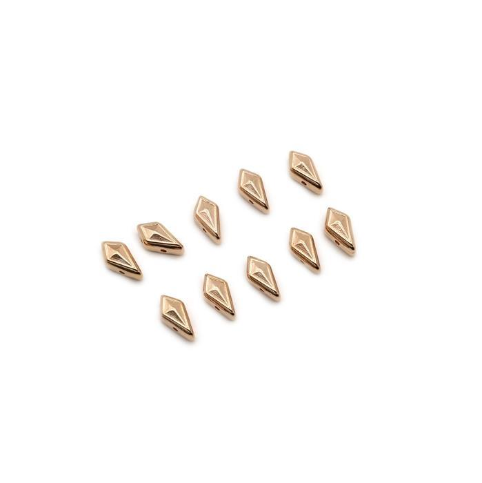Cymbal Katergo - Kite Bead Substitute - Rose Gold Plated (10pk)