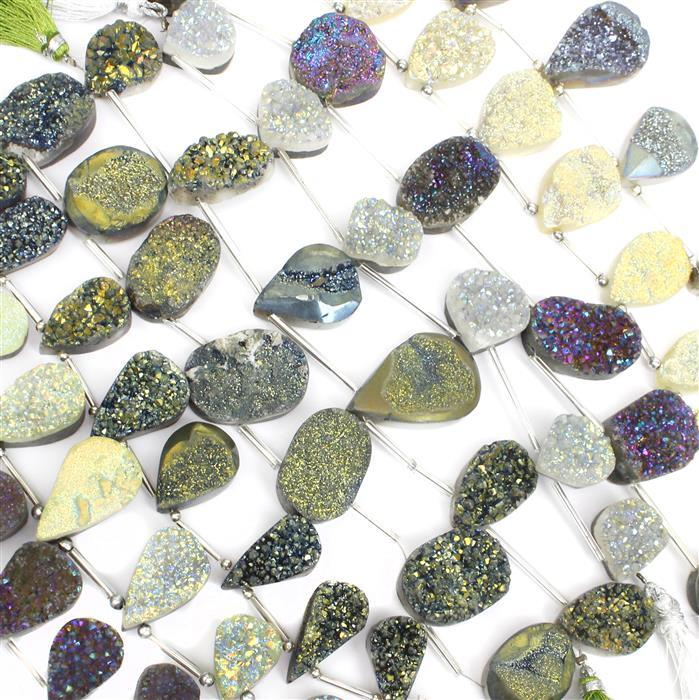 Druzy Top Drilled Collection x 9!