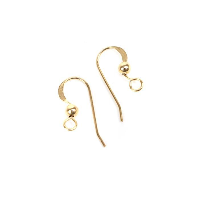 Gold Filled Flat Earwire Approx 18mm (1 Pair)