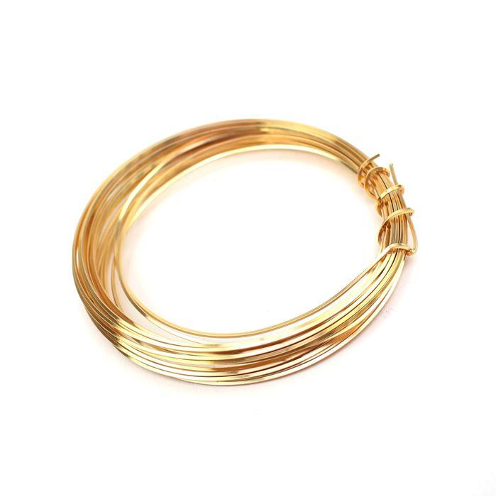 Champagne Gold Copper Square Wire - 0.6mm (3m)