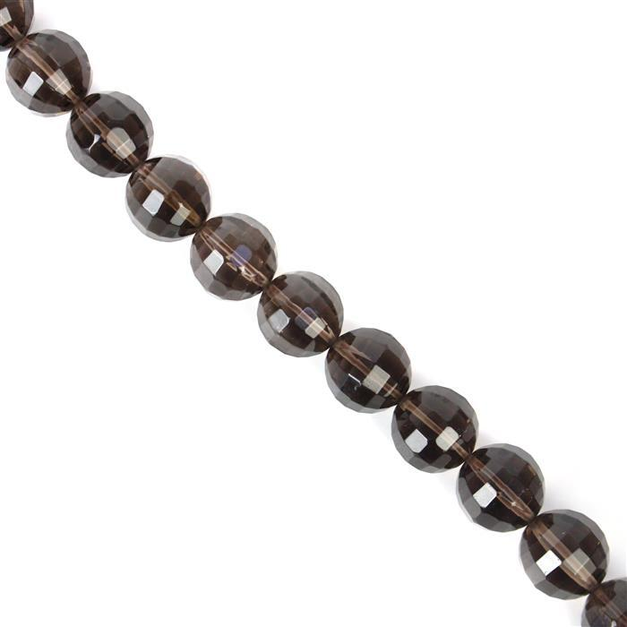 375cts Smokey Quartz 12mm Pumpkin cut, 38cm strand