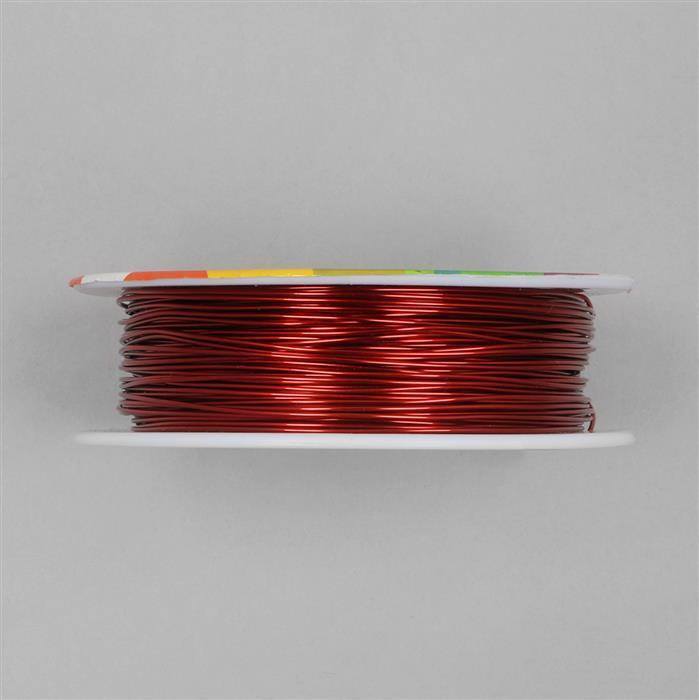 50m Deep Red Coloured Copper Wire Approx 0.8mm