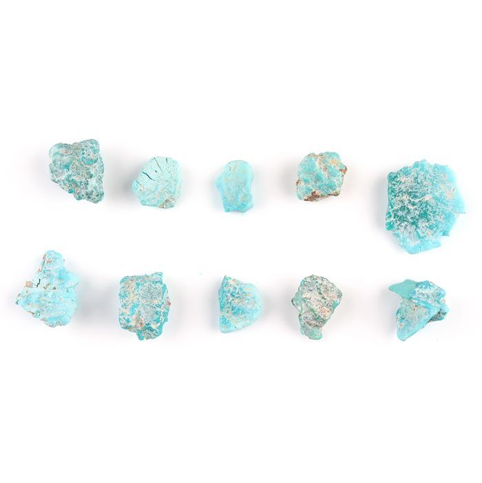 45cts Sleeping Beauty Turquoise Rough Multi-Shape Assortment.