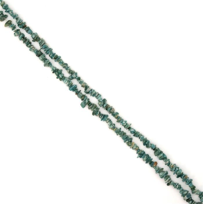 185cts Amazonite Plain Nuggets Approx 5x1 to 12x4mm, 84cm Strand