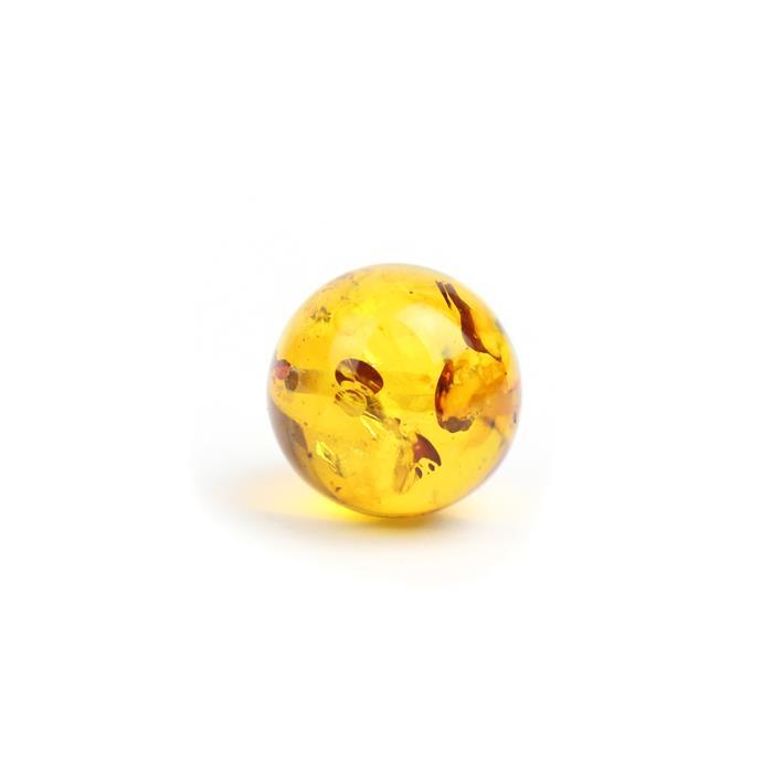 Baltic Cognac Amber Round Bead Approx 14mm Drilled