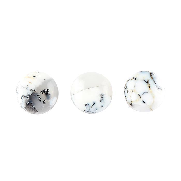 30cts Dendrite Agate Round Cabochons Approx 14mm. (Pack of 3)