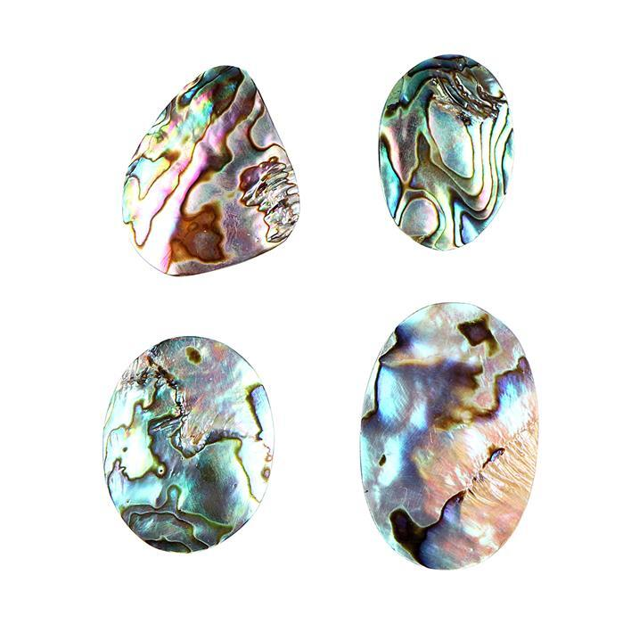 Abalone Multi Shape Cabochons Assortment.