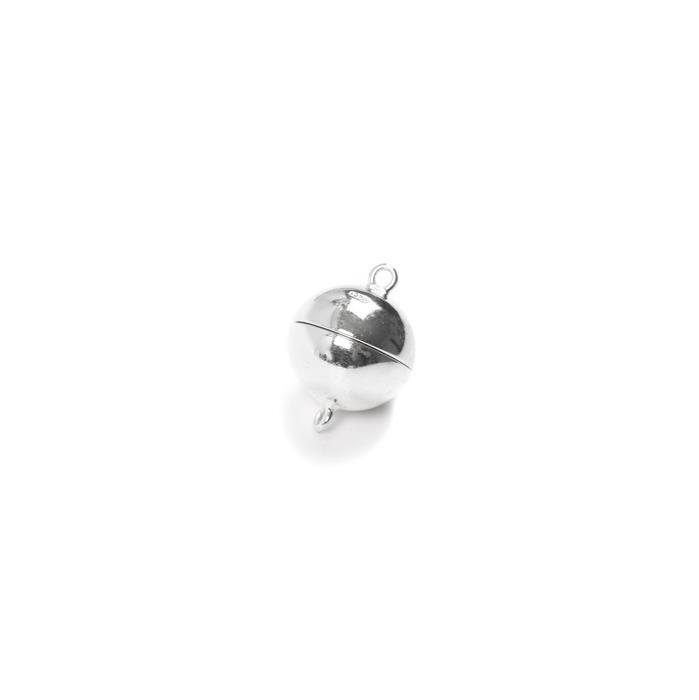 925 Sterling Silver Magnetic Clasp - 12mm (1pc)