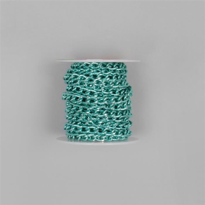 5m Green Aluminum Alloy Chain Approx 8x5mm