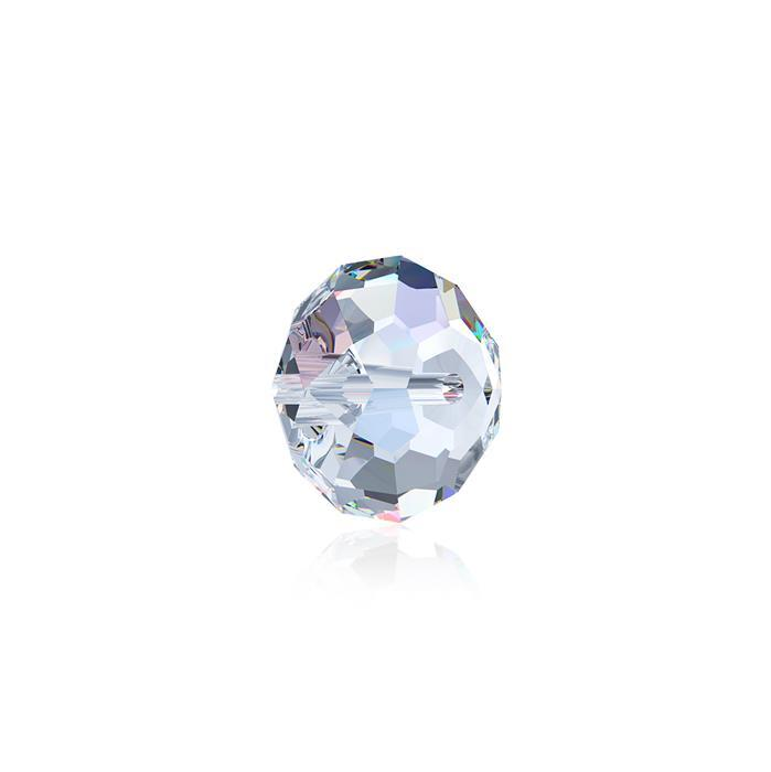 Swarovski Crystal Beads - Pack of 12 Briolette 5040 - 6mm Crystal AB