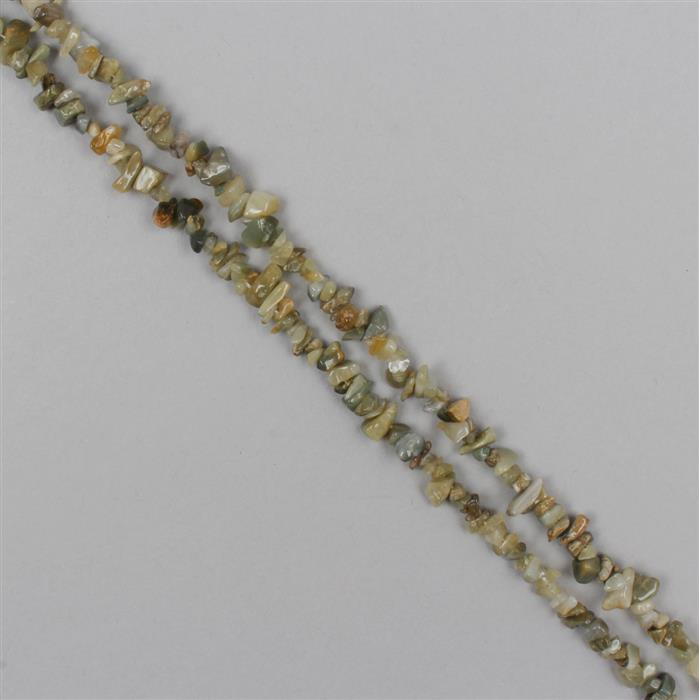 200cts Cats Eye Quartz Plain Small Nuggets Approx From 3x2 to 10x3mm, 82cm Strand.