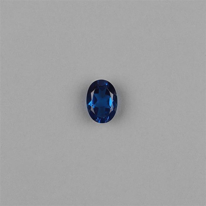 5.5cts Blue Sapphire Colour Triplet with Clear Quartz Brilliant Cut Oval 14x10mm.
