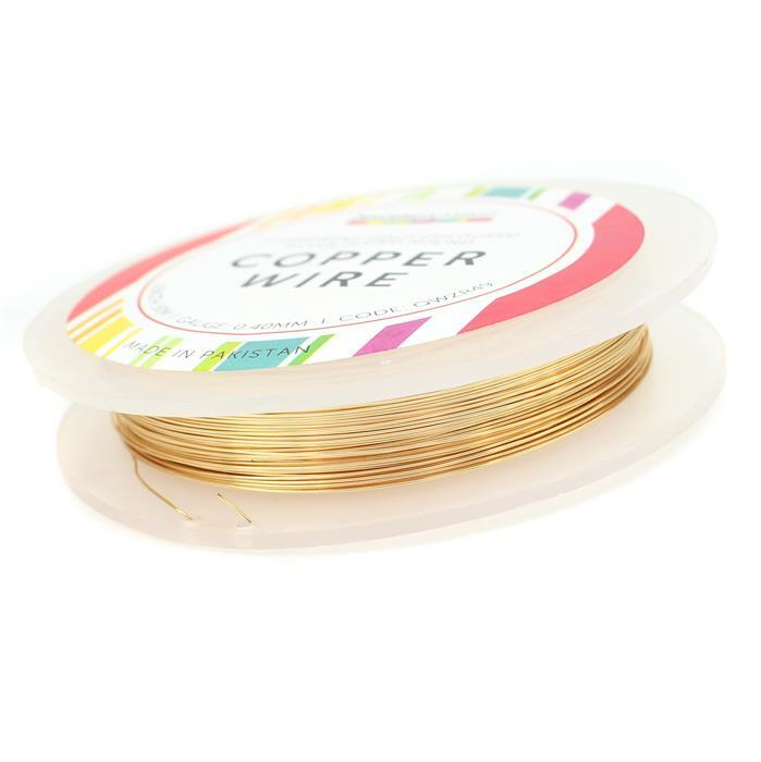 50m Champage Gold Plated Copper Wire 0.4mm