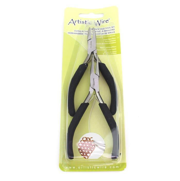 Artistic Wire Chain & Bent Nose Pliers (2pc)