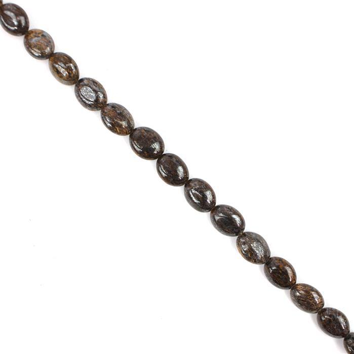 140cts Bronzite Puffy Ovals Approx 10x8mm, 38cm Strand