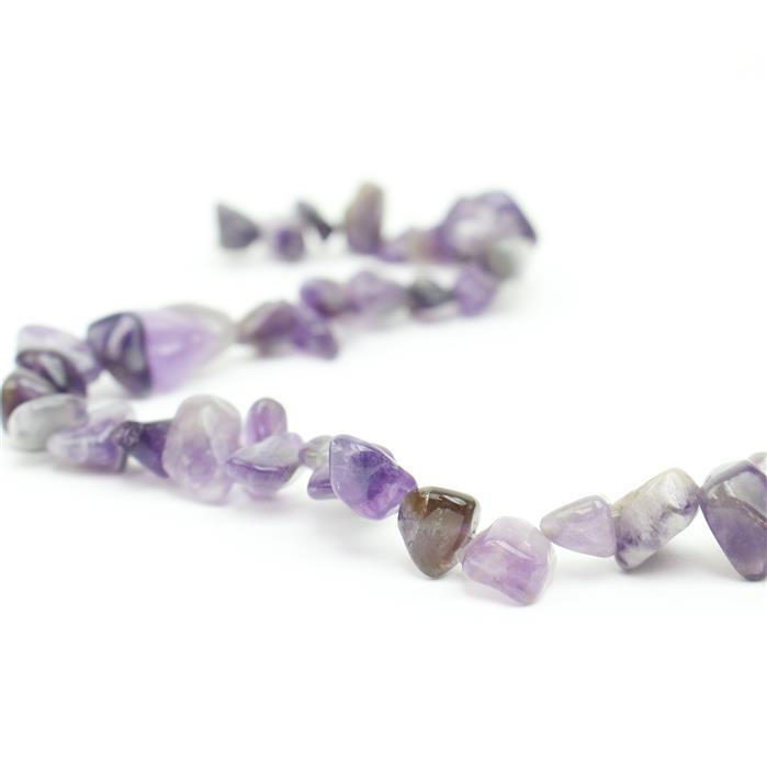 210cts Zambian Amethyst Fancy Nuggets Approx 7x8 - 12x21mm, 38cm Strand