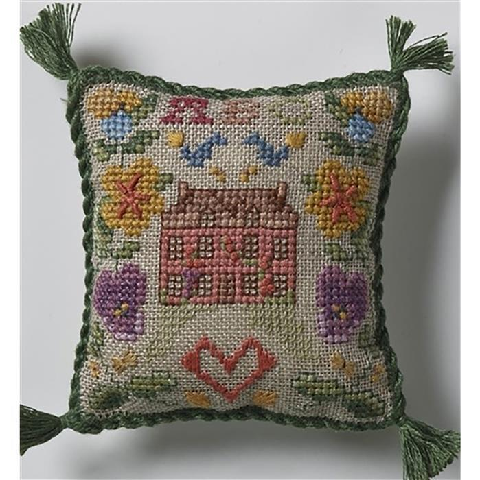 Little Sampler Pincushion in Aida