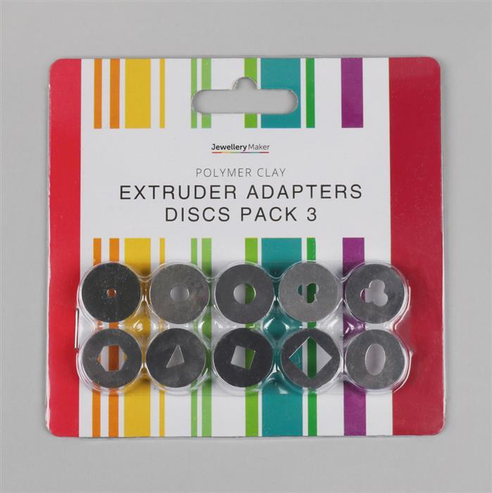 Polymer Clay Extruder Adapters Discs Pack 3