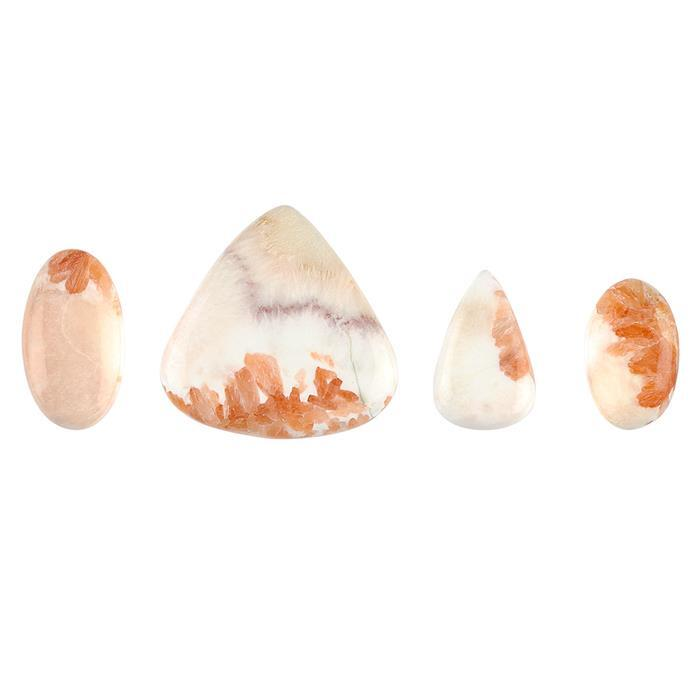 130cts Scolecite Multi Shape Cabochons Assortment.