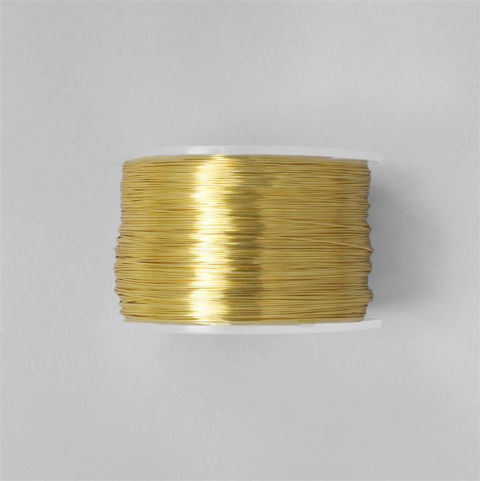 100m Gold Coloured Copper Wire 1.0mm
