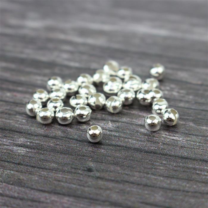 925 Sterling Silver Crimp Covers Approx 4mm (30pcs)