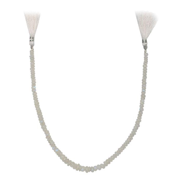 85cts Rainbow Moonstone Graduated Plain Rondelles Approx 2x1 to 7x3mm, 30cm Strand.