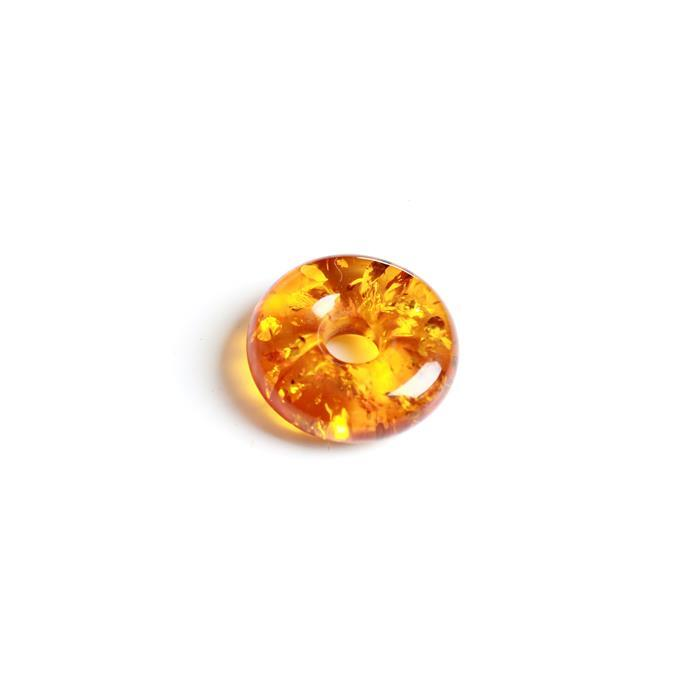Baltic Cognac Amber Doughnut Bead 20mm