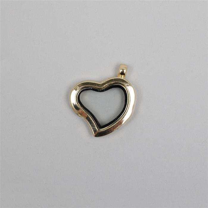 Gold Plated Metal Alloy Keepsake Lockets Heart Approx 25mm