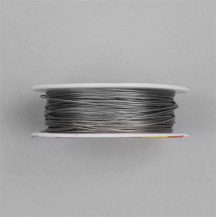 50m Light Grey Colour Stainless Steel Beading Thread 0.8mm