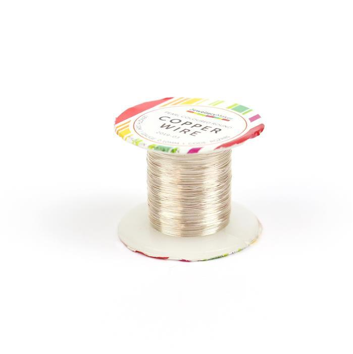 10m Pearl Coloured Copper Wire 0.10mm
