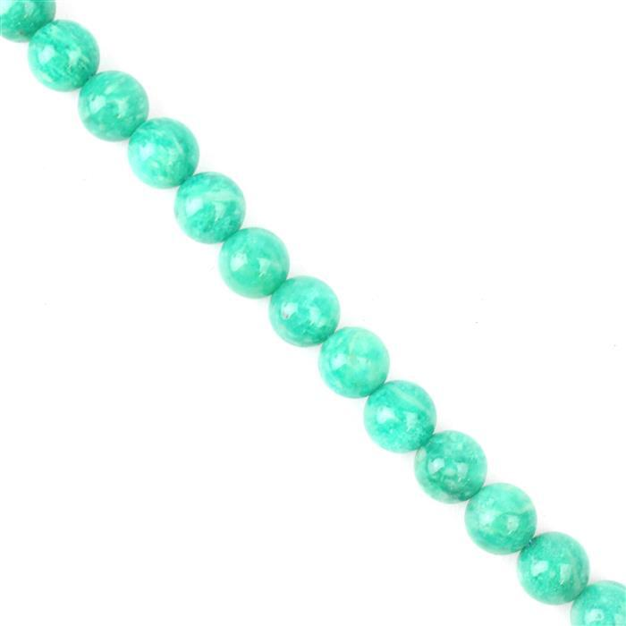 160cts Russian Amazonite Plain Rounds Approx 8mm, 38cm strand