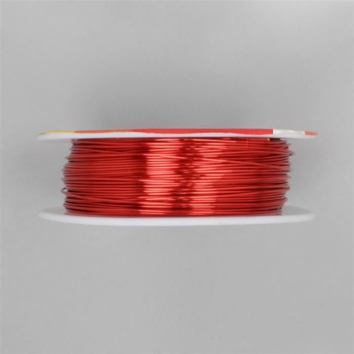50m Hot Red Coloured Copper Wire Approx 0.80mm