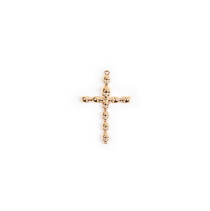 Gold Plated 925 Sterling Silver Skull Cross Pendant Approx 33x22mm 1pk