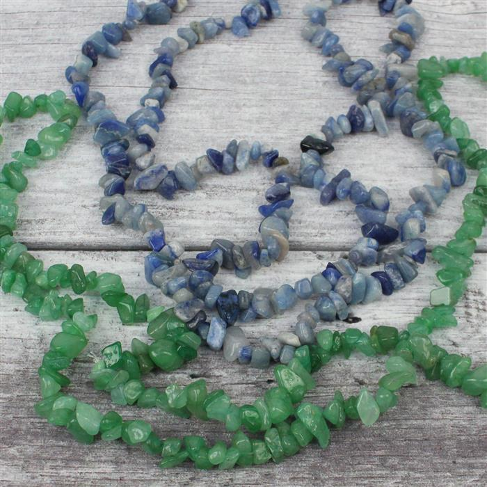 Under £5 Nuggets! 260cts Blue & 320cts Green Aventurine!