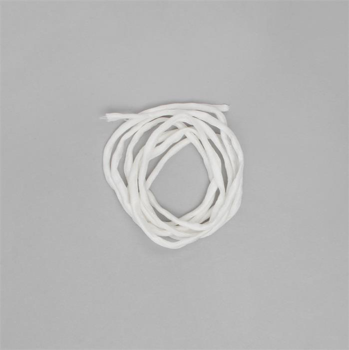 1m White Silk Cord Approx 2mm
