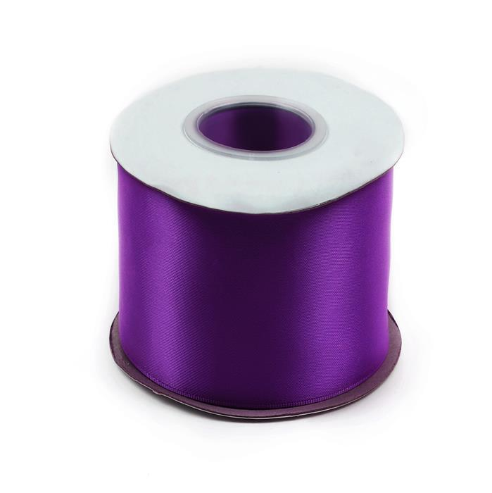 20m Plum Double Faced Satin Width Approx 75mm