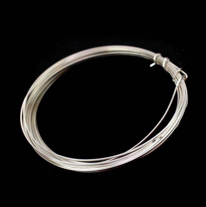 Silver Plated Copper Square Wire - 0.5mm (3m)