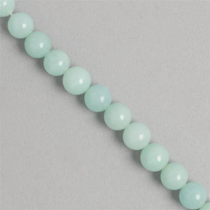 170cts Blue Colour Dyed Quartz Plain Rounds Approx 8mm, 36cm Strand.
