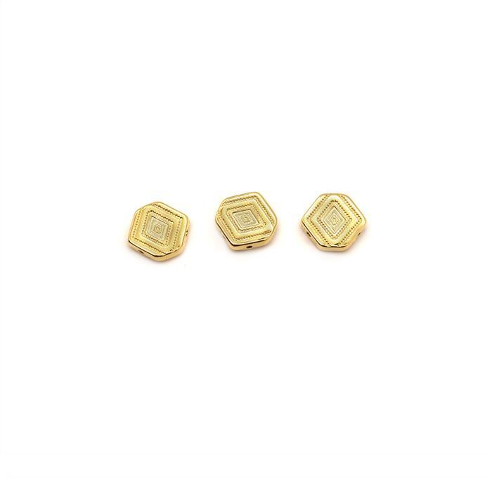 Cymbal Malliadiko - Chevron Connector - 24K Gold Plated (3pk)