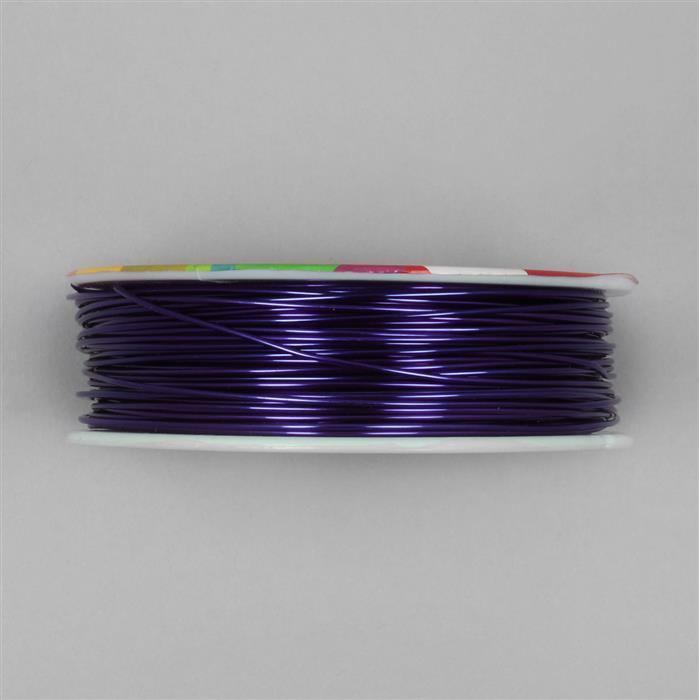 50m Purple Coloured Copper Wire Approx 1.00mm