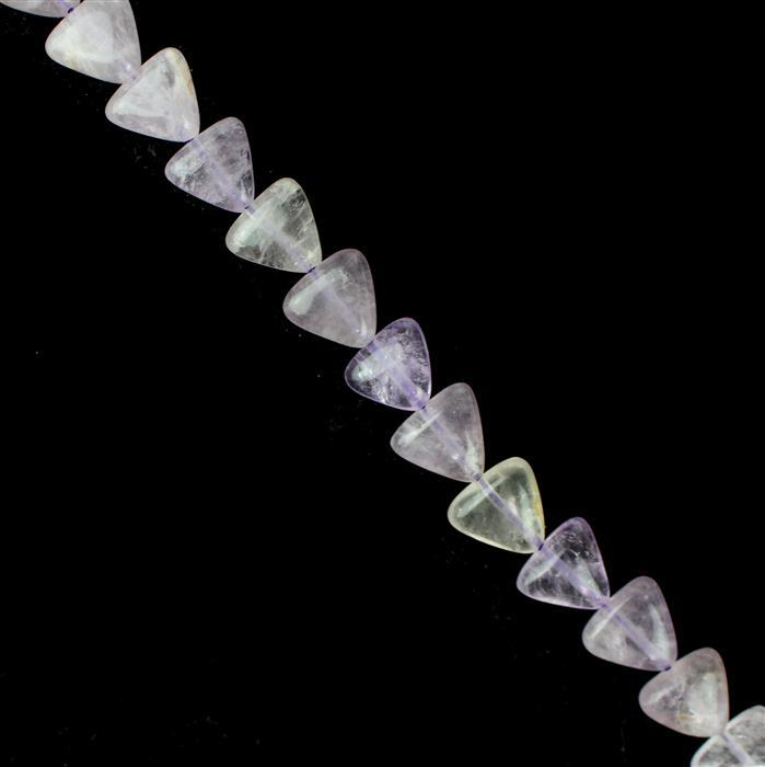 110cts Lavender Amethyst Trilliants Approx 10x10mm, 38cm Strand