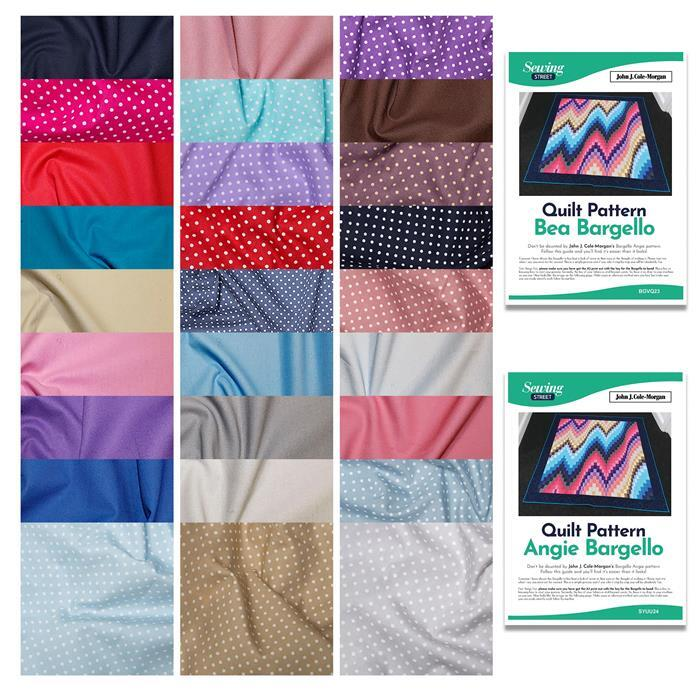 John J. Cole-Morgan's Due Bargello Quilt Kit: Fabric (15m) 2 Instructions (1 FREE)
