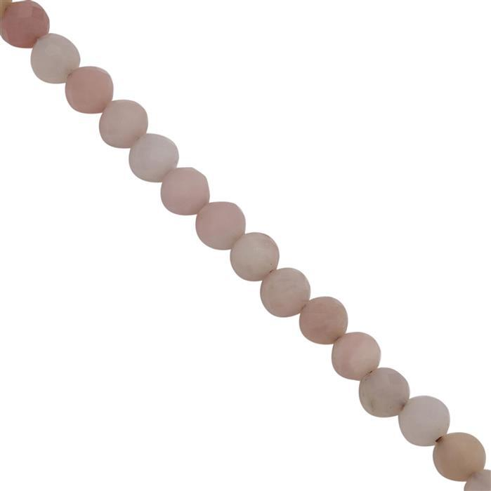 15cts Peruvian Pink Opal Faceted Round Seed Beads Approx 2.8 to 3.5mm, 39cm Strand
