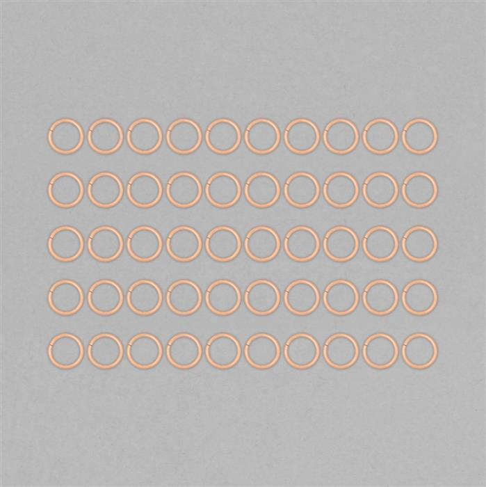 Rose Gold Plated Copper Hollow Open Jump Rings - 16mm & Thickness 2mm (50pcs/pk)