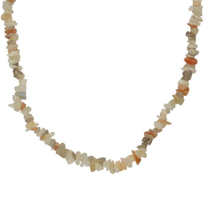 230cts Multi Colour Moonstone Plain Small Nuggets Approx 2x1 to 10x4mm, 82cm Strand.