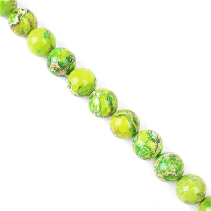 400cts Apple Green Terra Jasper Plain Rounds Approx 14mm, Approx 38cm/strand
