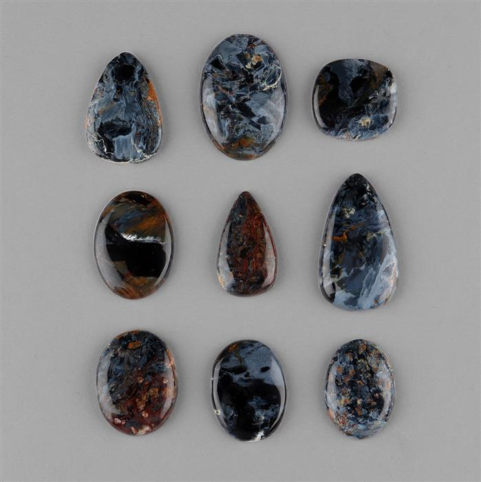 244cts Pietersite Multi Shape Cabochons Assortment.