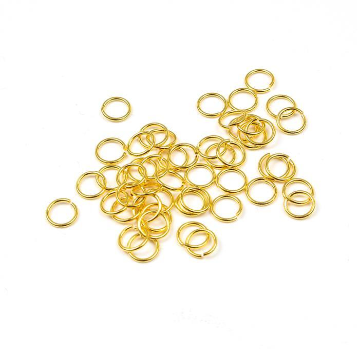 Gold Plated Sterling Silver Open Jump Rings 5mm (50pcs)