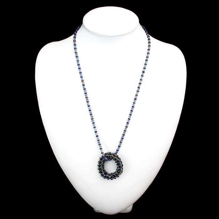 December Birthstone Kit; 30cts Tanzanite Graduated Rondelles, Miyuki Seedbeads & Fireline