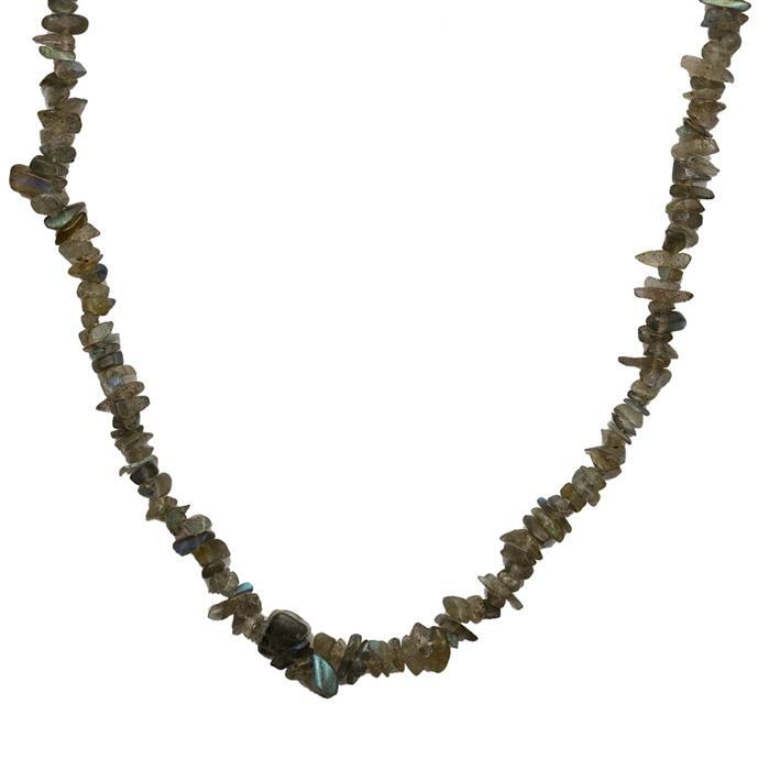175cts Labradorite Plain Small Nuggets Approx 2x1 to 10x2mm, 84cm Strand.